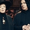 dueltastic: Image: Snape glances at McGonagall with what can only be deep, repressed longing. (snape/mcg)