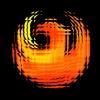 azurelunatic: Logo of Phoenix, AZ in orange and yellow, with shattered tile effect.  (cracked phoenix)