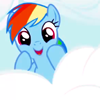 biichan: Rainbow Dash! (mlp: rainbow dash is zomg)