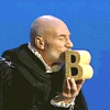 burnadette_dpdl: Sir Patrick Stewart kissing a B for Sesame St. (Sir Patrick Stewart)