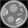 shyfoxling: Gallifreyan symbol in grey on black background (doctor who (dromeian))