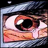 nomadicwriter: Close-up of Doctor Doom's eye showing a tear welling up (Doom crying)