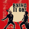 """outlineofash: White Rabbit and Hatter from Syfy's Alice fight. Text reads """"Bring it on!"""" (Media - Bring it ON)"""