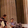 the_antichris: Erik and Charles lounging on the steps of the Lincoln Memorial (X-Men Lincoln)