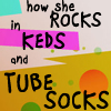 fay_e: Text: how she rocks in keds and tube socks (rocks keds and tube socks)