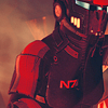 theleaveswant: Commander Shepard (female) from Mass Effect Games in armour that obscures face (Shepard in helmet)
