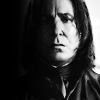 kerravonsen: Severus Snape in black-and-white, looking sorrowful (Snape)