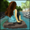 riverer: Sitting on a rock in the middle of a river (River)