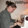 velithya: (sewing)