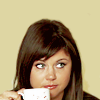 elegantpi: Elizabeth with coffee, White collar (El)