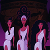 alexseanchai: three Muses dancing from Disney's Hercules opening sequence (Disney Muses 01)