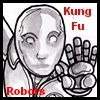 ysabetwordsmith: Android holding out a palm; text says Kung Fu Robots (kung fu)