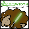 temve: A Jedi sheep with a green lightsabre dreams of Dreamwidth. (DreamSheep Qui-Gon)