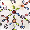 jjhunter: Watercolor sketch of arranged diatoms as seen under microscope (diatomaceous tessellation)