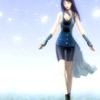 shanaqui: Rinoa from Final Fantasy VIII, walking through a field. Soft colours. ((Rinoa) Walking)