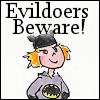 "cereta: Cartoon of my daughter as Batgirl with ""Evildoers Beware!"" (I'm Batgirl's Mom)"