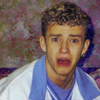randomling: A very young Justin Timberlake with an expression of great distress. (oh noes)