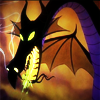 turlough: head of Maleficient as a firebreathing dragon, Disney's 'Sleeping Beauty' ((disney) dragons are awesome)