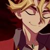 miscellanium: shingo sawatari looking smug with eyes closed; from the maiami championship duel vs yuuya (arc v | give me all good things)