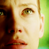 monanotlisa: close-up of olivia dunham, green background, luminous green eyes (WHAT?) (olivia - fringe)