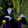 theladyscribe: Maleficent and Crow with looks of disdain. (utter disdain)