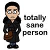 merryghoul: suzie costello (torchwood), text: totally sane person (mini suzie)