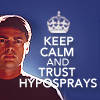 "bottommccoylove: Bones from Star Trek Reboot movie with text ""Keep Calm and Trust Hyposprays"" (Bones hyposprays)"