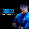 "bottommccoylove: Bones looking hot / unimpressed. Text ""Bones: Doctor Hotass"" (Doctor Hotass)"
