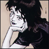 gavagai: Death from Sandman - a woman with short dark hair and a kind smile, resting her chin on her hand. (Default)