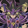 alexseanchai: Yami Yuugi with Yuugi and the Dark Magician (Yu-Gi-Oh! Duel Armor trio)