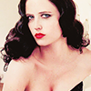 asharadayne: actress eva green in a black corset in pin-up fashion (eva green (pinup))