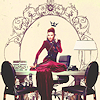 "asharadayne: regina mills from the television show ""once upon a time"" wearing a long red gown, with decorative frame (regina mills (framed))"