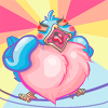 bluebirdofgrumpiness: and angry cartoon bluebird shooting laser beams from its eyes (Default)