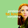 "mrstotten: Captain America 2: Natasha smiling, ""pretend to know everything."" (Avengers → makes sense)"