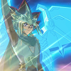alexseanchai: Atem waving with the Blue-Eyes White Dragon behind him (Yu-Gi-Oh! pharaoh and dragon)
