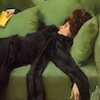 cloudsinvenice: 1890s woman sprawling exhausted on a sofa (Young Lady After The Ball)