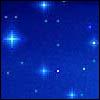 spacerobotcrew: 47's default icon. Blue pixelated starry sky (47 stars)