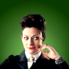 nenya_kanadka: Michelle Gomez as the Master (DW Mistress Master green)