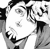 inevitableentresol: Kotetsu from Tiger & Bunny, looking up puzzled (Tiger Kotetsu b/w)