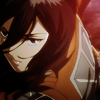 advancing: (MIKASA ღ the fire in her eyes.)
