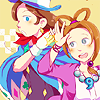 """spiritpearls: art by <user name=""""klenzer"""" site=""""tumblr.com""""> (TRUCY ► high five)"""