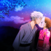 amihan: hotaru wearing gin's mask as he gives her a kiss after the festival ([hotarubi no mori e] gin x hotaru)
