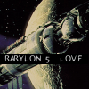 babylon5_love: Space station Babylon 5 in front of the crest of Epsilon 3 (B5 is love)