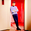 muccamukk: Spock casually leaning in a doorway, arms folded. (ST: Spock)