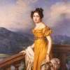 marmota_b: Portrait of Amalie Auguste, Princess of Bavaria and Queen of Saxony - 1820s, rich yellow dress (1820s)