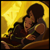 rymenhild: Korra and Asami, cuddling in a turtle-duck boat (korrasami)