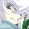 levisx: Bakura from Yu-Gi-Oh! looking over his shoulder and sneering (bakura)