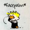audiobiblio: (Calvin and Hobbes - Facepalm)