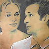 fangirlishness: The Librarians - Flynn looks lovingly at Eve - manip by me (librarians_eve and flynn)