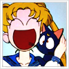 emeraldstag: Sailor Moon's Usagi & Luna (heroine)